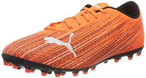 PUMA Ultra 4.1 MG, Zapatillas de fútbol Hombre, Naranja Shocking Orange Black, 39 EU