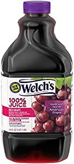 Welch's 100% Juice, Red Grape, No Sugar Added, 64 Ounce Bottles (Pack of 8)