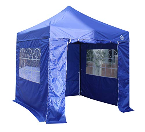 All Seasons Gazebos 2.5 x 2.5m Heavy Duty, Fully Waterproof Pop up Gazebo With 4 Side Walls (Royal Blue)