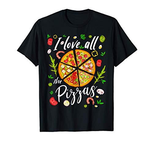 Love All Pizzas Pizza Lover Gift Celebra El Día De La Pizza Camiseta