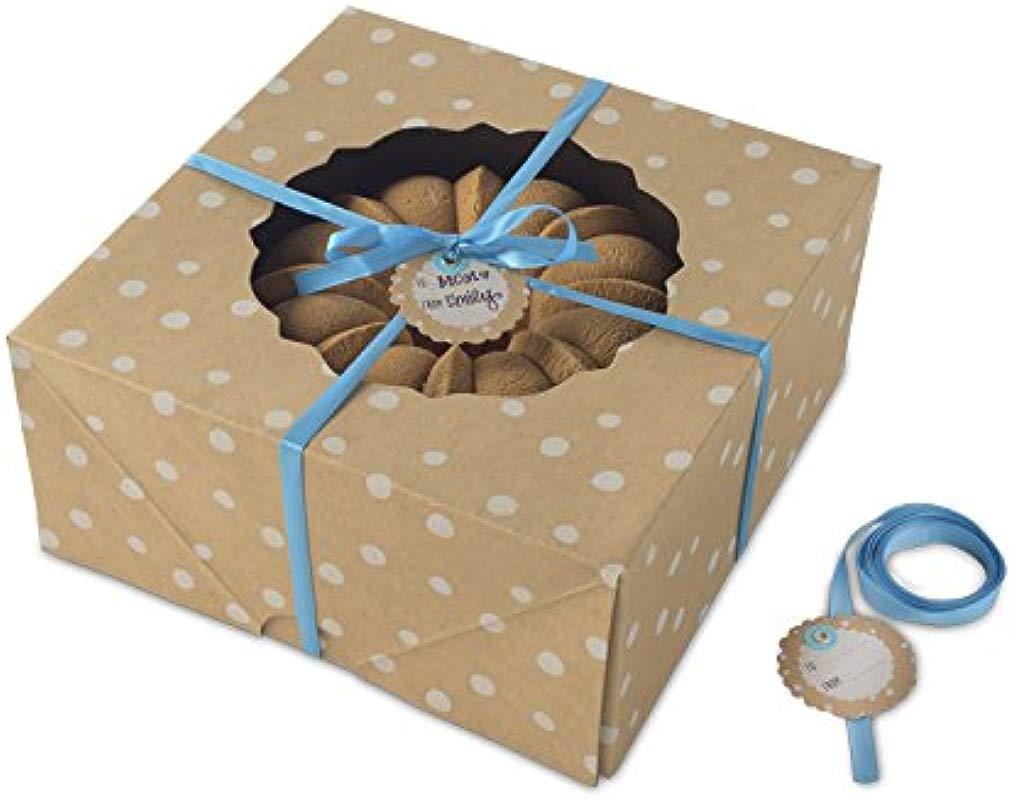 Nordic Ware Bake And Gift Large Kraft Paper Bundt Box Multicolor