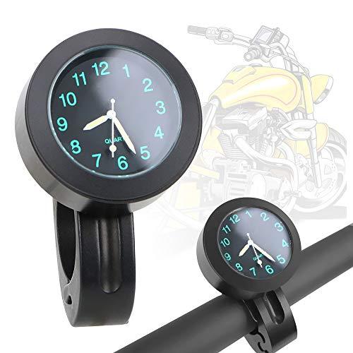 Fahrrad Uhr Aluminium Motorrad Lenker Quarzuhr Wasserdicht (Schwarz)