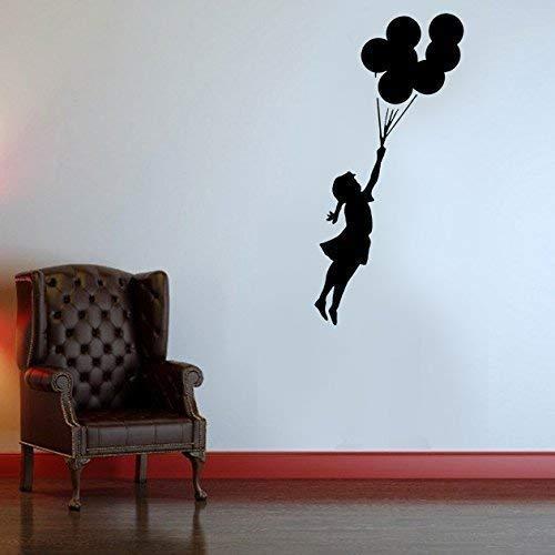 Banksy Fliegen Ballon Mädchen Schablone | Wiederverwendbar & Kunst Handwerk Malerei Schablone - semi transparent Schablone, XXL/ 32X110CM