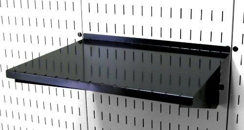 Wall Control Pegboard Shelf 12in Deep Pegboard Shelf Assembly for Wall Control Pegboard and Slotted Tool Board – Black