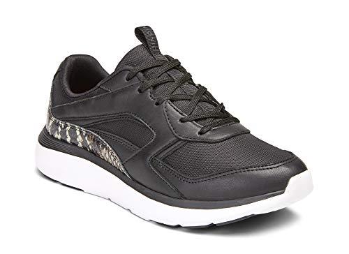 Vionic Delmar Adela Damen Wanderschuhe – Damen Casual Sneakers mit verdeckter orthopädischer Fußgewölbeunterstützung, Schwarz (Black Boa), 39 EU