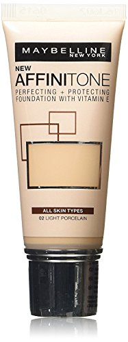 2 x Maybelline Affinitone Unifying Foundation Cream 30ml - 02 Light Porcelain