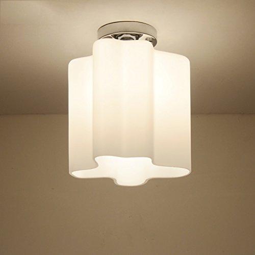 Bureaulampen, tafellampen, eenvoudige moderne led-glazen plafondlamp, gang, hal, ingang, balkon, gang, garderobe, verlichting, tafel- en bedlampjes