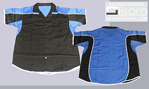 Lisaro Darthemd/Bowlinghemd schwarz/blau (5XL)