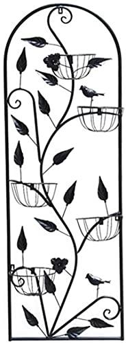 Maceta Exquisito Colgante Florero, Montado en el soporte de la flor del soporte de la flor del hierro forjado del soporte de la maceta del soporte de la maceta, múltiples ramas de la cesta de la flor