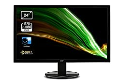 24 Inch screen: The 24 Inch screen size can fit anywhere in your home or office without compromising on usable space Full HD: The Full HD resolution (1920 x 1080) ensures that everything will appear sharp and clear, good for documents or web-browsing...