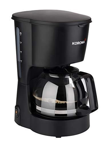 Korona cafetera eléctrica Negro Fassungsvermögen Tassen=5 Warmhaltefunktion, Glaskanne