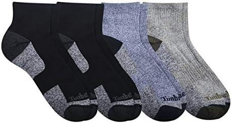 Timberland Men's 4 Pack Comfort Low Quarter Sock