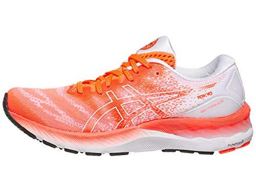 ASICS Women's Gel-Nimbus 23 Tokyo Running Shoes, 11M, Sunrise RED/White