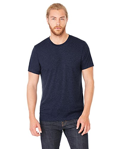 Bella+Canvas Perfect Tri-Blend Fashionable T-Shirt, Large, Solid Navy Triblend