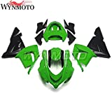 Plastic Complete Fairing Kit Fit For Kawasaki ZX-10R 2004-2005 Ninja 04 05 ABS Injection Mold Motorcycle Bodywork - Glossy Green With Black Lowers