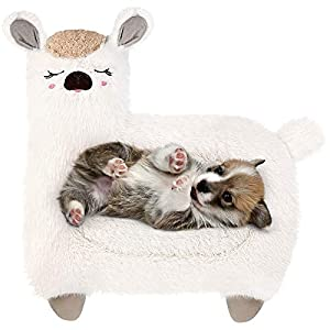 Lorfancy Dog Mats for Sleeping, Plush Fluffy Dog Bed for Large Medium Small Dogs, Soft Sheep Shape Washable Cat Crate Mat, Pet Pillow Pad Sofa Cushion