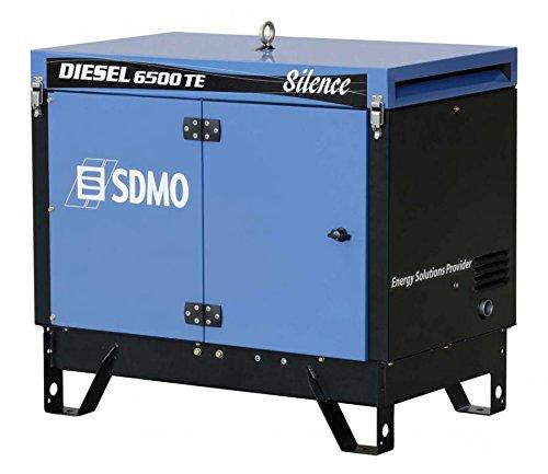 SDMO Portable Power | Diesel | Modelo 6500 TE Silence AVR| Equipado con UN Motor | Kohler Diesel | Potencia MAX (KW) 5,20