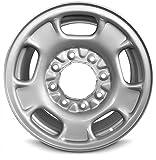 Road Ready Car Wheel for 2011-2020 GMC Sierra 2500 17 Inch 8 Lug Silver Steel Rim Fits R17 Tire