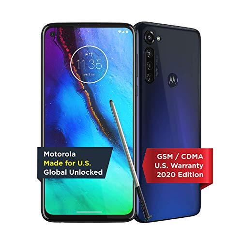 Moto G Stylus | Unlocked | Made for US by Motorola | 4/128GB | 48MP Camera | 2020 | Indigo (Renewed) Nebraska