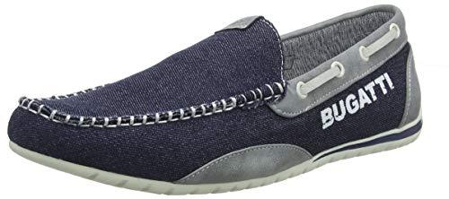 bugatti 321734606900, Mocasines para Hombre, Azul (Blue 4000), 43 EU