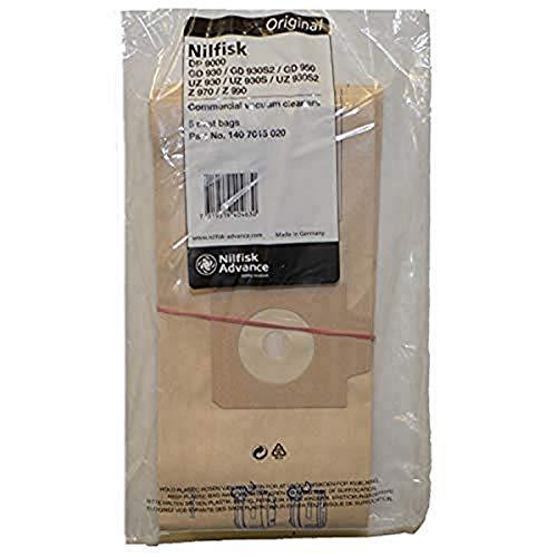 Nilfisk 1407015020 Gd-930 Uz930 - Bolsa de papel (5 unidades)