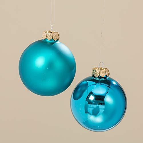Boules Bleu Glacier 5 cm//6 pièces par boîte