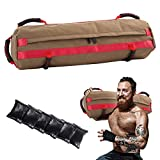 Sandbags for Fitness, Sandbag Workout Equipment, Adjustable Sand Bags with 6 Filler Bags 10 to 60 Lbs Perfect for a Home Gym, Crossfit, or a Personal Trainer.