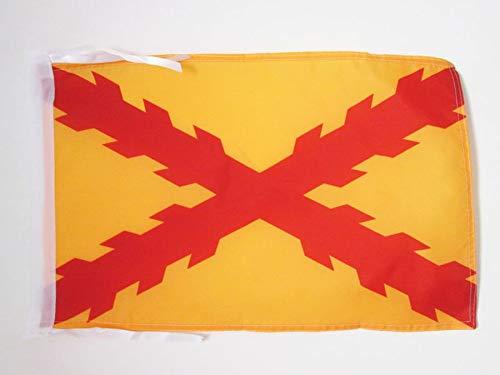 AZ FLAG Bandera de ESPAÑA TERCIOS MORADOS Viejos 45x30cm - BANDERINA Ejercito ESPAÑOL 30 x 45 cm cordeles