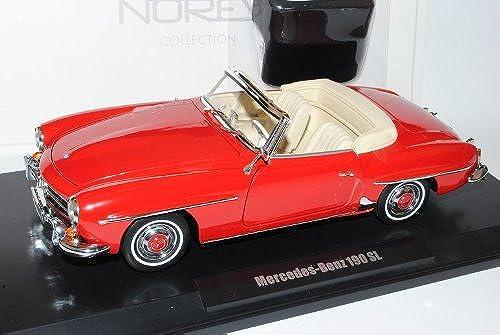 Norev Mercedes-Benz 190SL Cabrio Rot W121 1955-1963 1 18 Modell Auto mit individiuellem Wunschkennzeichen