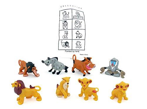 Figurensatz von König der Löwen. 8 schöne Figuren der Serie König der Löwen