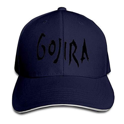 Tengyuntong Gorra de béisbol HIPGCC con Logotipo de Gojira Gorros de Camionero Correa Ajustable con Cierre a presión