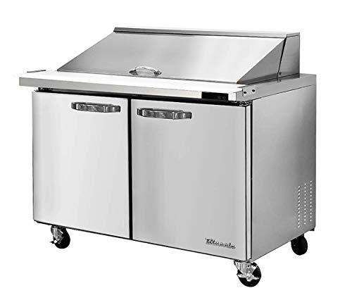 Blue Air BLMT60-HC 2 Door 60 inches Mega Top Refrigerated Sandwich/Salad Prep Table, 16.7 cu. ft, 24 Pan.