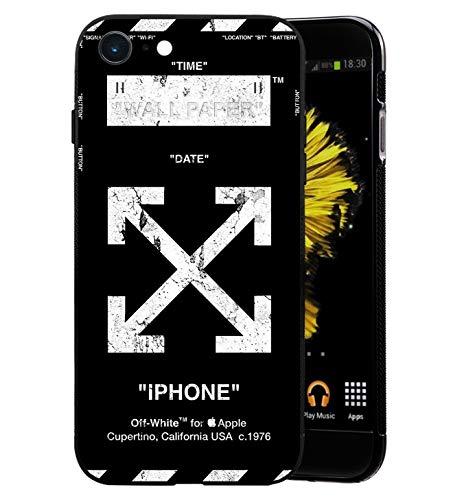 Off White Logo Schutzhülle iPhone 6/6S Plus Hülles, Weiche TPU Schutzhülle - Flexible Hülle Handyhülle für Apple iPhone 6/6S Plus - Off-White iPhone
