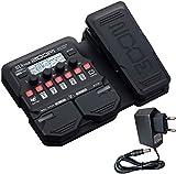 Zoom G1X FOUR - Aparato de efectos para guitarra, con fuente de alimentación Keepdrum de 9 V