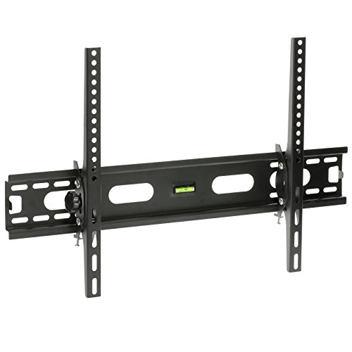 """MasterPart 32-64"""" Tilt TV Bracket with Built in Spirit Level for LCD, 3D, LED, Curved, Flat Screen, Plasma TVs – 40kg Max Weight Capacity"""