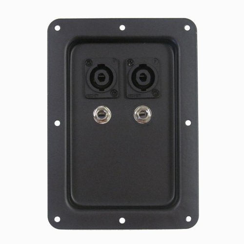 Pro Audio Jack Plate with Dual Speakon and Dual 1/4 PA/DJ Speaker Cabinet