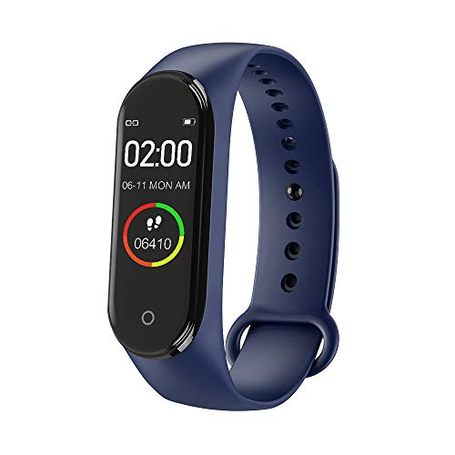 zhiang M4 Fitness Tracker,New M4 Bluetooth Smart Bracelet Sports Activity Tracker with Step Counter, Calorie Counter, Pedometer Watch for Kids Women and Men - IP68 Waterproof