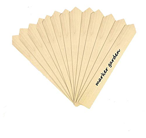 50pcs Plant Lables Wooden, Large Garden Labels for Plants, Natural Plant Markers Waterproof Plant Signs for Seed Potted Herbs Flowers Vegetables (6 x 0.8 inch)