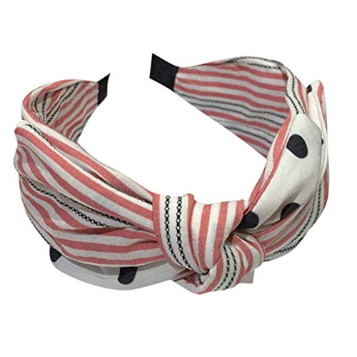 JJZXD Diadema Nudo Turbante Diadema Bowknot Arcos Amplio Headwrap Banda for la Cabeza Accesorios elásticos for el Cabello (Color : B)