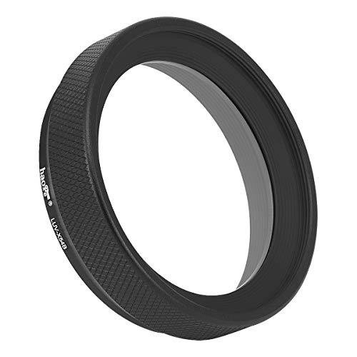 Haoge LUV-X54B Metal Lens Hood with MC UV Protection Multicoated Ultraviolet Lens Filter for Fujifilm Fuji X100V Camera Black