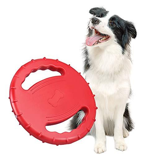 Skrtuan Frisbee und hundespielzeug,Mittlere und große Hunde Interaktives Spielzeug,Schwimmen,im Freien klingendes Hundespielzeug,Hundefrisbee