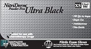 Innovative Nitriderm Ultra Black Powder-Free Nitrile Synthetic Gloves, Large 187300