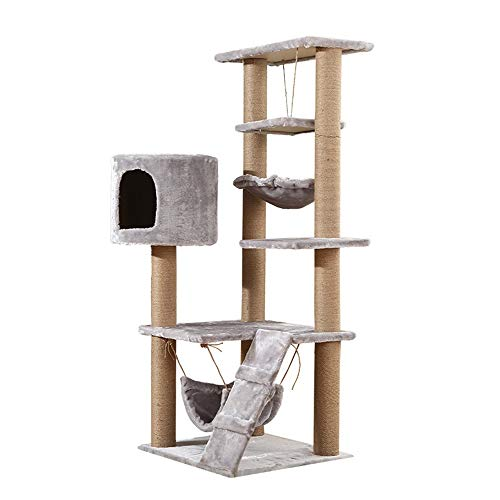 BESTSOON Cat Tree Tower Cat Climbing Tree Multi-layer Pet Toy Cat Litter Cat Tree Cat Scratch Board Cat Climbing Tree Cat Toy Cat Litter Kitten Furniture Activity Centre