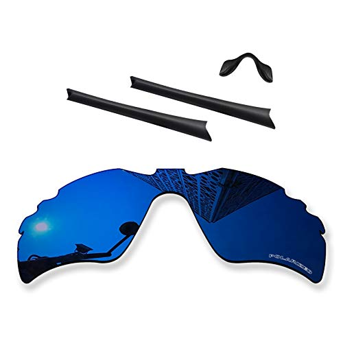 MYCOURAG Anti-Salt Polarized Replacement Lenses Compatible with Oakley Radar Path Vented Sunglass - Midnight Blue Mirror Coated