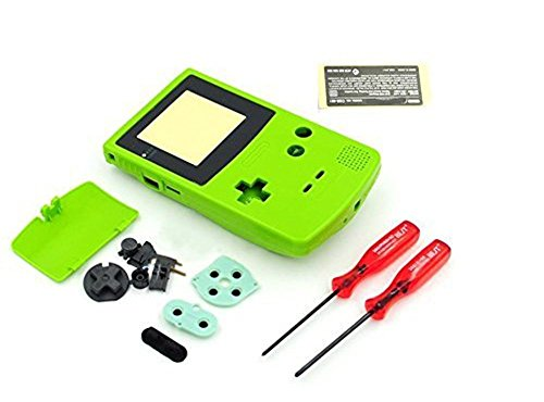 Replacement Full Housing Shell Case Cover for Nintendo Gameboy Color GBC – verde lima