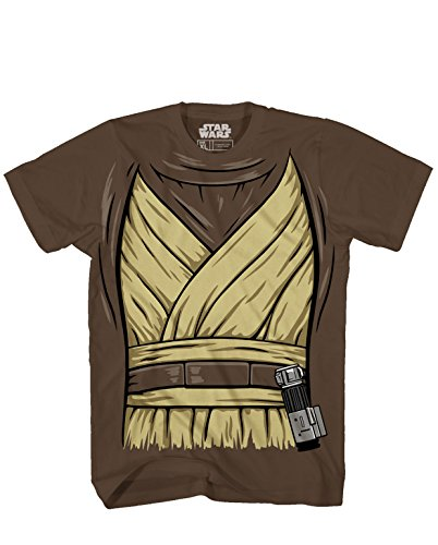 OBI -Wan Ben Kenobi Halloween Costume Luke Skywalker Jedi Yoda Adult Men's Graphic T-Shirt Tee Apparel (X-Large) Brown