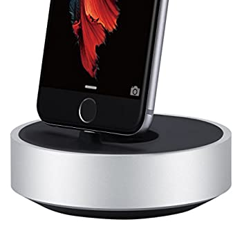 JUST MOBILE HoverDock Charging Dock Aluminum Stand for Lightning iPhone iPad iPod AirPods Apple Pencil Magic Keyboard Magic Mouse 2 Apple Remote FaceTime Skype Rotating Dock  ST-268