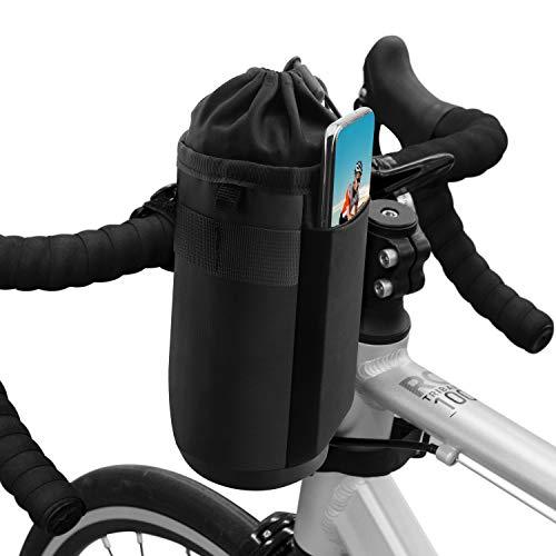 Suruid Portabottiglie per Biciclette, Porta Borraccia Mountain Bike per Bici, Borsa Bollitore per Manubrio da Bici Portaborraccia Isolamento