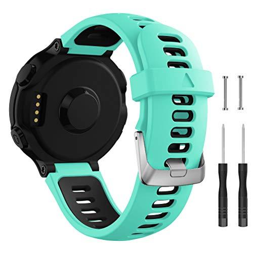 Junboer Compatible with Garmin Forerunner 735XT Watch Band, Soft Silicone Replacement Watch Strap Men Women Sport Band Wristband for Forerunner 235/235Lite/220/230/620/630/735XT Smartwatches