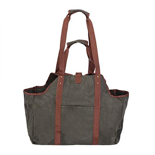 Portador de leña, paño de tela ligero, fácil de plegar, bolsa de almacenamiento de leña, para leña, leña para acampar, estufa de leña